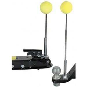 Magnetic Trailer Alignment Kit with Chrome Plated Telescoping Rods