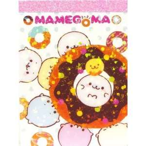 Mamegoma baby seals mini Memo Pad big donut Toys & Games