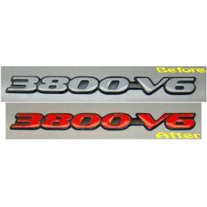 3800 V6 Badge Overlay Decal   1997 1999 Pontiac Grand Prix