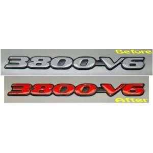 3800 V6 Badge Overlay Decal   1997 1999 Pontiac Grand Prix