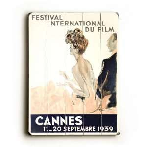 wood sign 1939 Cannes Film Festival 25x34 planked