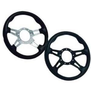 Billet Equipped Steering Wheel   Black 95 YRSW4 BL