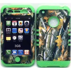 Camo 2 Oak Tree on Lime Silicone for Apple iPhone 3G 3GS