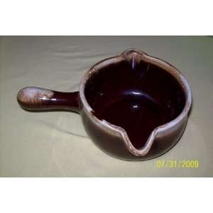 McCoy Pottery Brown Drip Gravy Server Bowl   1428 Everything Else