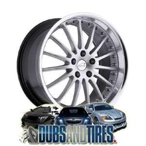 19 Inch 19x8.5 Coventry wheels Whitley Hyper Silver w/Mirror Cut Lip