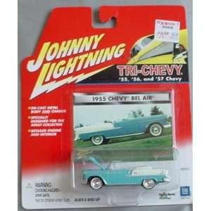 Johnny Lightning Tri Chevy 1955 Chevy Bel Air BLUE