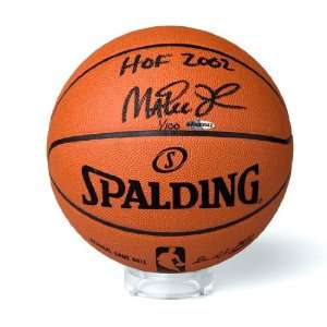 Magic Johnson Autographed Basketball Inscribed HOF 2002