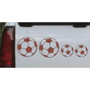 Soccer Ball Stick Family Stick Family Car Window Wall Laptop Decal