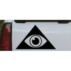 Illuminati Eye Masonic Car Window Wall Laptop Decal Sticker    Black