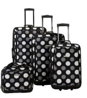 Rockland Luggage Dot 4 Piece Luggage Set Clothing
