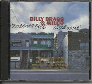 BILLY BRAGG & WILCO Mermaid GOLD PROMO STAMP COVER CD