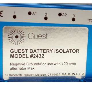 MARINCO   GUEST 2432 120 AMP BOAT BATTERY ISOLATOR