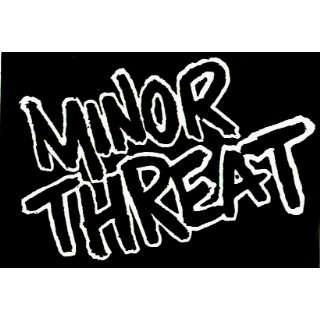 Minor Threat   Classic Black & White Logo   Sticker