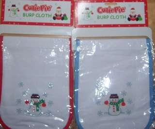 Cutie Pie Embroidery Christmas Burp Cloth, Baby Shower, Diaper Cake