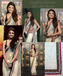 Quality White Net Saree From Anushka Sharma IIFA Award 2011