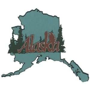 Alaska State Shape Laser Die Cut