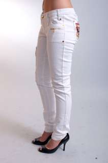 NEW WOMENS COOGI WHITE LOW RISE SKINNY ANKLE DENIM BLUE JEANS PANTS