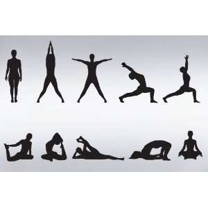 Wall Art Decal Sticker Yoga Poses Silhouette Position: Everything Else