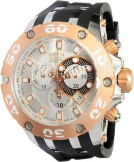 Invicta 0911 Mens Watch Scuba Rose Gold Tone Specialty Reserve Chrono