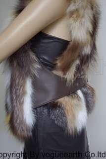 652 new real fox fur vest/jacket/coat/cape/shawl/stole