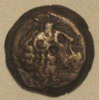 Egypt Ancient Coin Ptolemy VI Zeus Ammon Two Eagles Clip Flan N4 101
