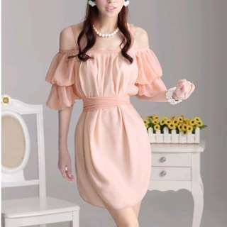 Boho Season New arrival Pink Women CONVERTIBLE Chiffon Dresses Dress