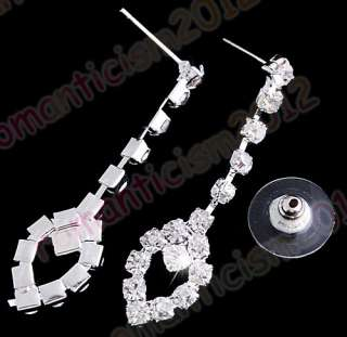 FREE Wedding/Bridal crystal choker necklace EARRING set