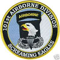 ARMY 101ST AIRBORNE DIVISION SCREAMING EAGLES PATCH