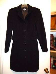 ZARA Classic Concepts Black Wool + Cashmere Coat Size 6
