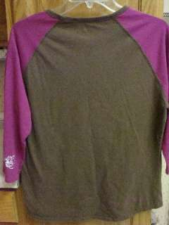 THE NORTH FACE Womens Long Sleeve XL EXTRA LARGE Shirt PINK BROWN