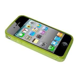 Modern Tech Green Gel Case/ Skin for Apple iPhone 4 Cell