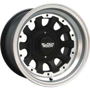 Black Rock Type D Alloy 15x8 Machined Black Wheel / Rim 6x5.5 with a
