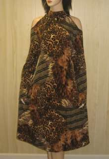 Open Peep COLD SHOULDERS Dress ANIMAL ALLURE nwt Womens Clothing 22
