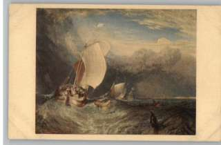 PostcardJoseph M W Turner Painting/ArtDutch Fishing Boats