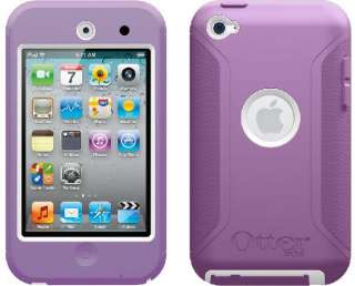 Otterbox iPod Touch 4G 4th Generation Defender Case Cover PURPLE WHITE