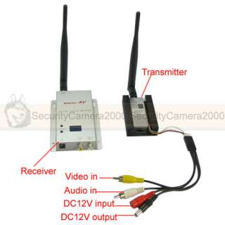 Wireless 0.9GHz 1500mw 4CH Video Audio Transmitter Receiver with Fan