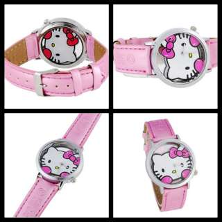 KT208 cute Hello Kitty Analog Wrist girl Watch (Pink)