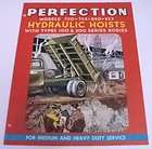 perfection 1952 hydraulic hoists for trucks brochure