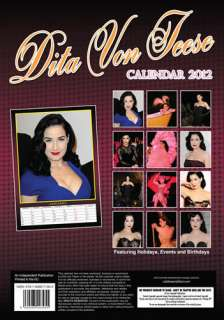 dita von teese 2012 calendar 12 month 12 x 16