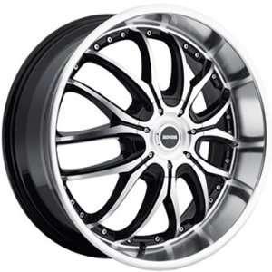Dropstars 641 20x8.5 Machined Black Wheel / Rim 5x4.25 & 5x4.5 with a