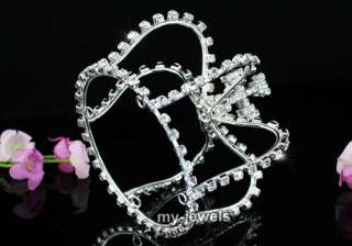 Bridal Wedding Pageant Princess Crystal Mini Tiara Crown T1539