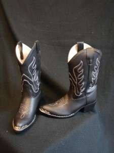 BLACK BROWN Cool Western COWGIRL/BOY Riding Show Boots YOUTH KID SIZES