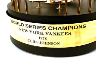 1978 Cliff Johnson NY Yankees World Series Trophy RARE Thumbnail Image