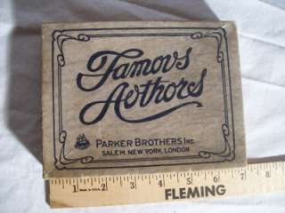 Vintage 1943 Parker Brothers Game Of Authors Card Game