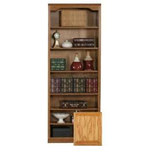 Coastal 14384NGLT Coastal Classic Oak 84 Open Bookcase