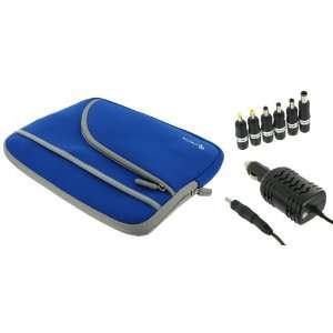 rooCASE 2n1 MSI Wind U100 843 10 Inch Netbook Neoprene Sleeve Case and