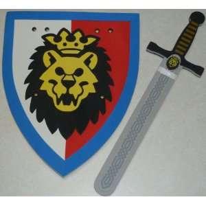 Lego Life size Castle Lion Foam Sword and Shield Set: Toys
