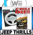 JEEP THRILLS RACING GAME FOR THE NINTENDO Wii + 2 RACING WHEEL