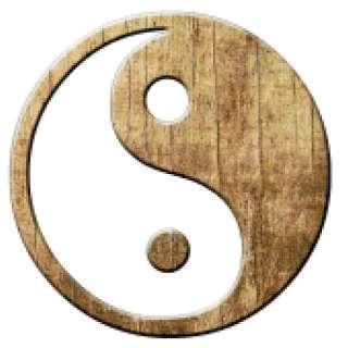 Yin Ying Yang Symbol Counted Cross Stitch Pattern Wood