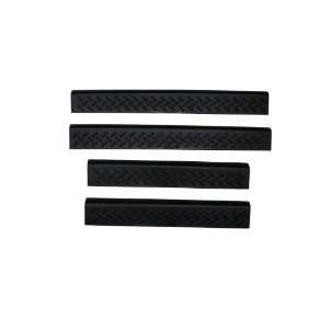 Auto Ventshade 91011 Black Door Sill Protector   4 Piece